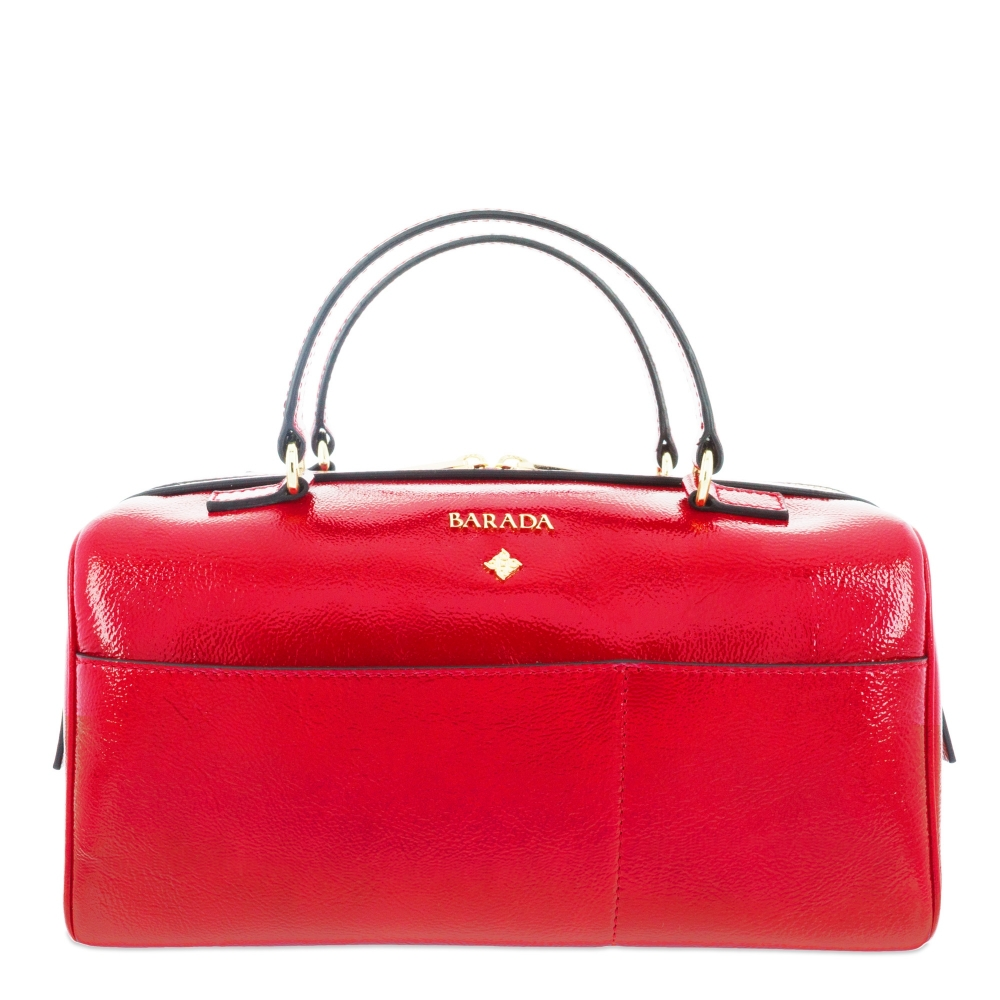 Handbag Style 342 in Wrinkled Patent leather (Calf) and Red colour