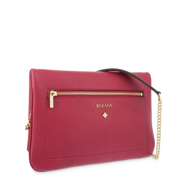 Cross over bag Style 343 in Napa leather (Lambskin) and Red colour