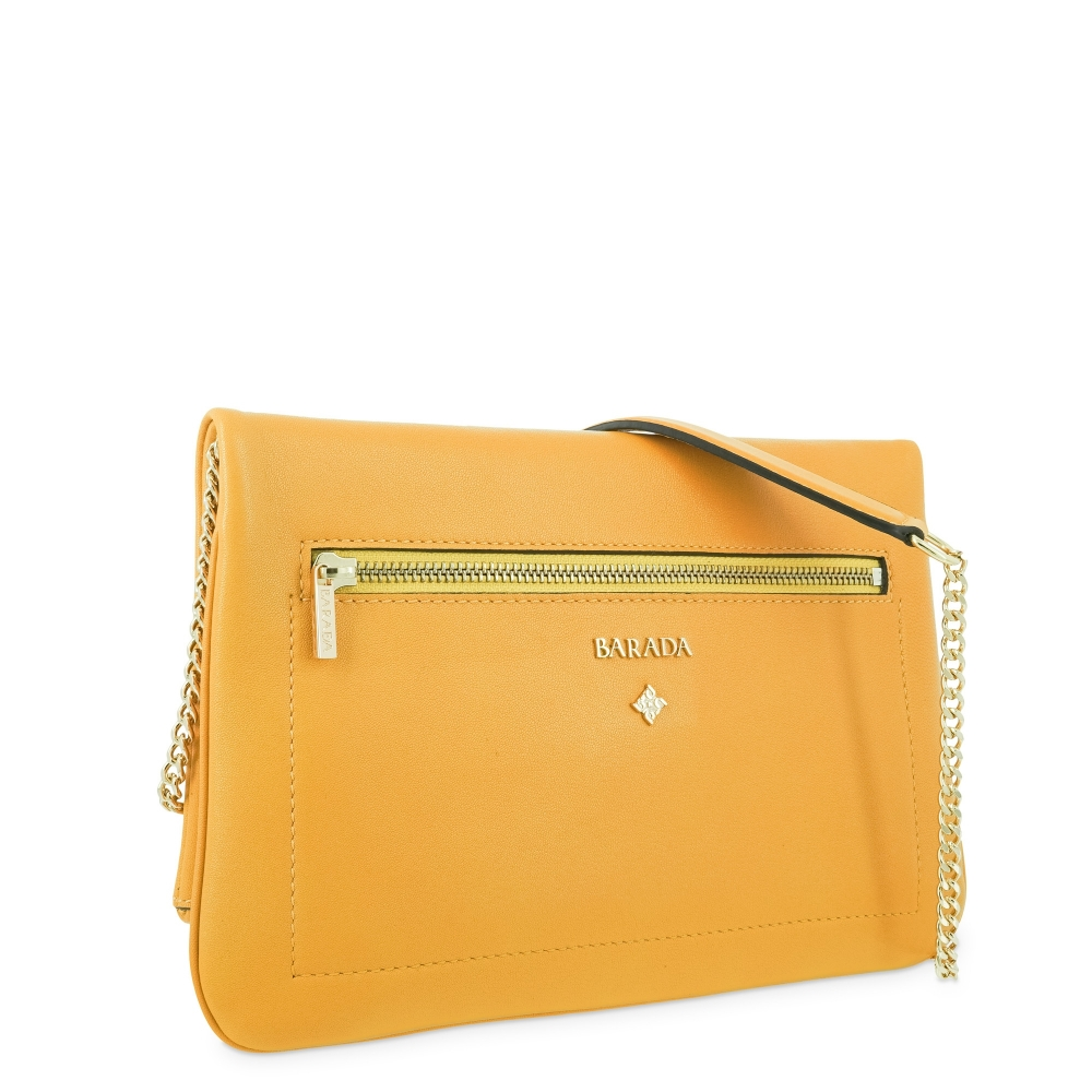 Cross over bag Style 343 in Napa leather (Lambskin) and Yellow colour