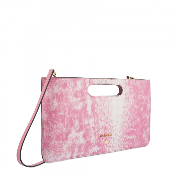 Bolso de Mano Modelo 347 en piel Colibrí (Cordero) y color Rosa