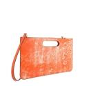Bolso de Mano Modelo 347 en piel Colibrí (Cordero) y color Naranja