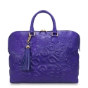 Zipped Top Tote Ahimsa Collection in Embossed Calf Leather