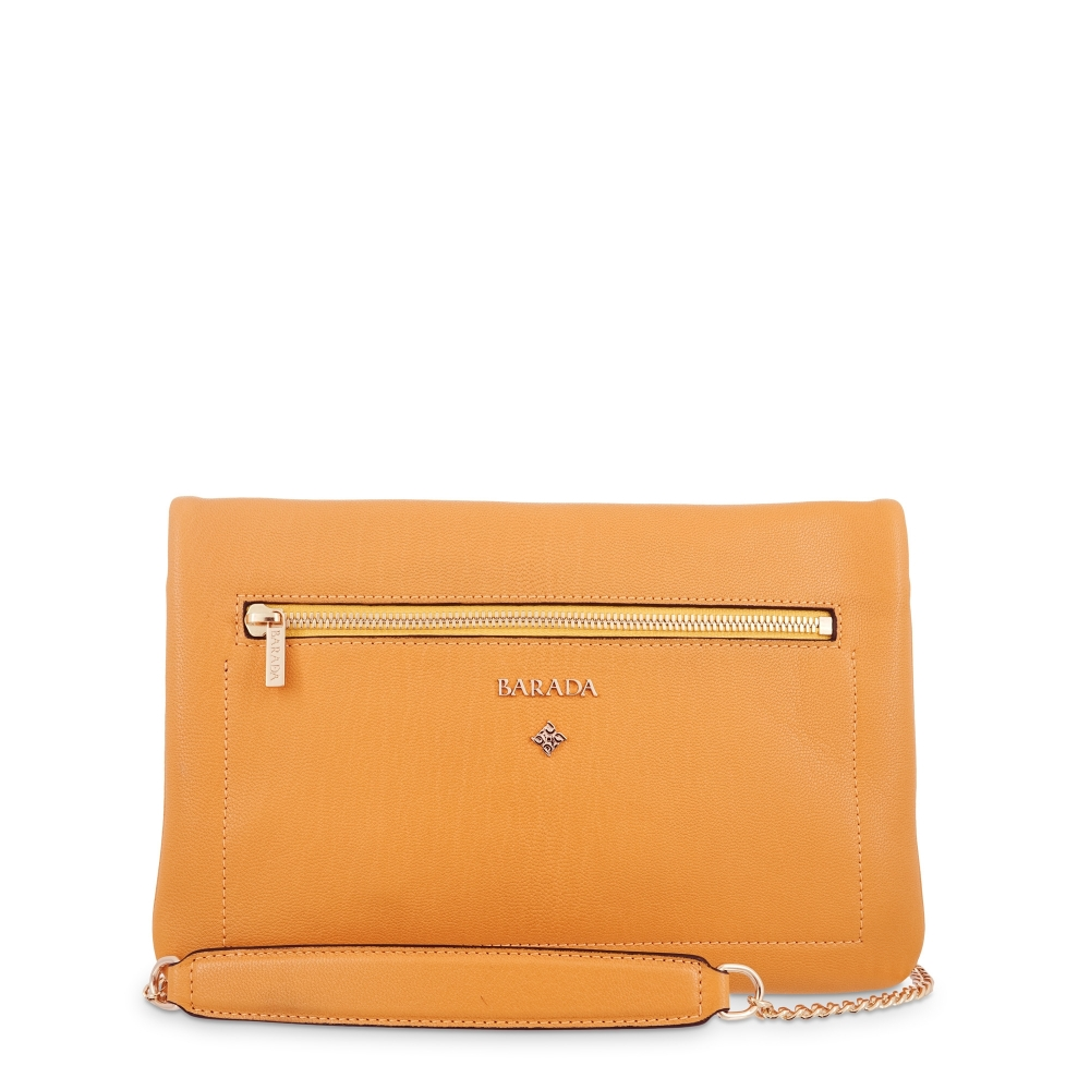 Shoulder Bag in Goat leather and Yellow colour
