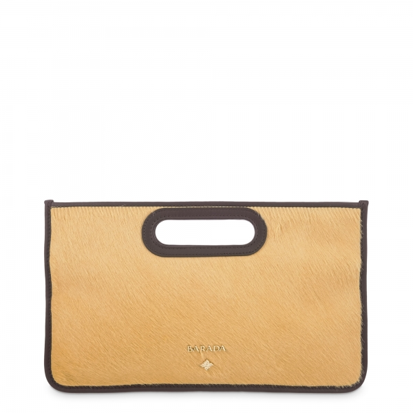 Evening Bags in Calf leather and Yellow colour