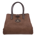 Handbag in Calf leather and Brown colour