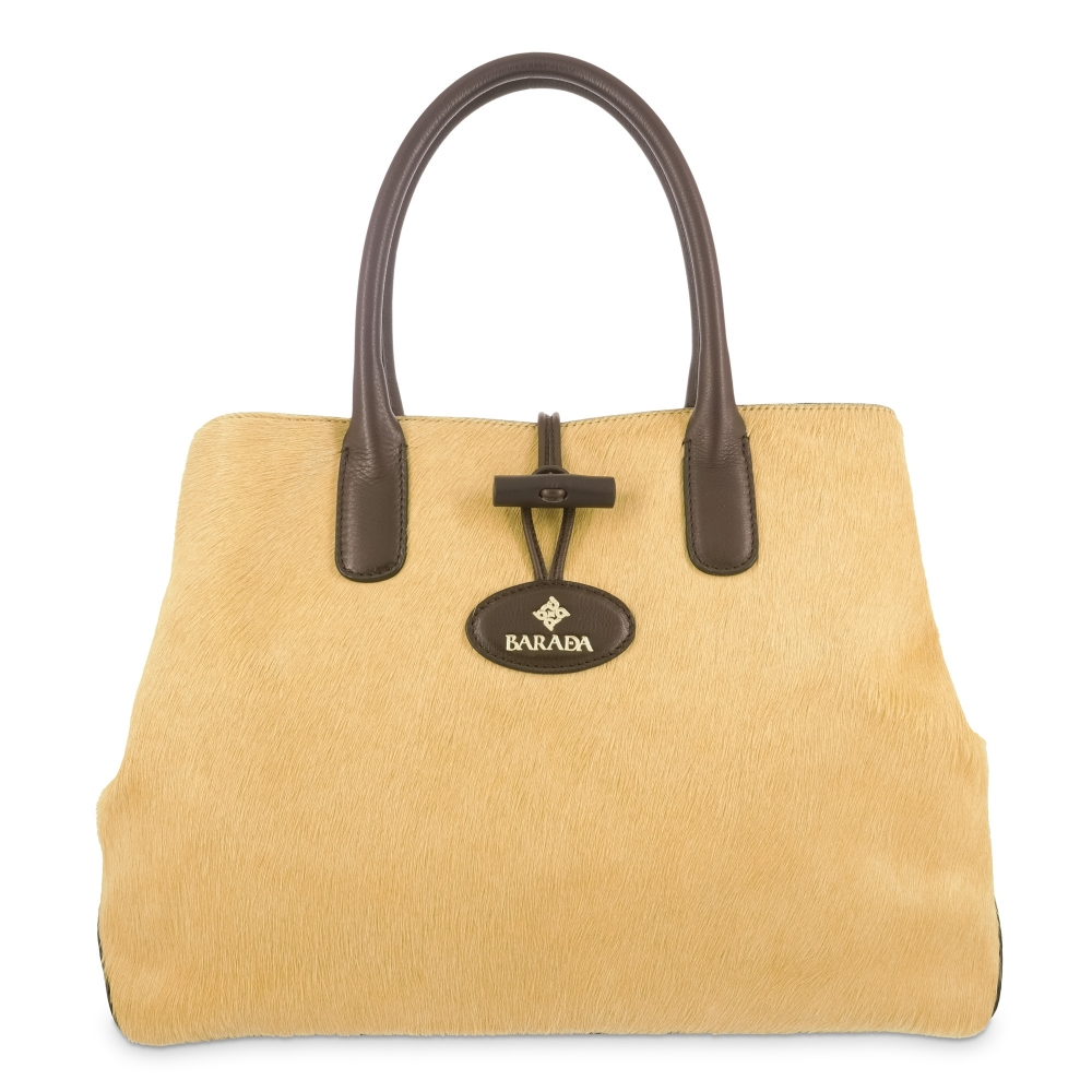 Handbag in Calf leather and Yellow colour