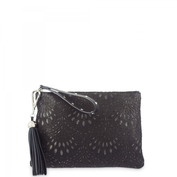 Evening Bag in Lamb Skin and Black colour