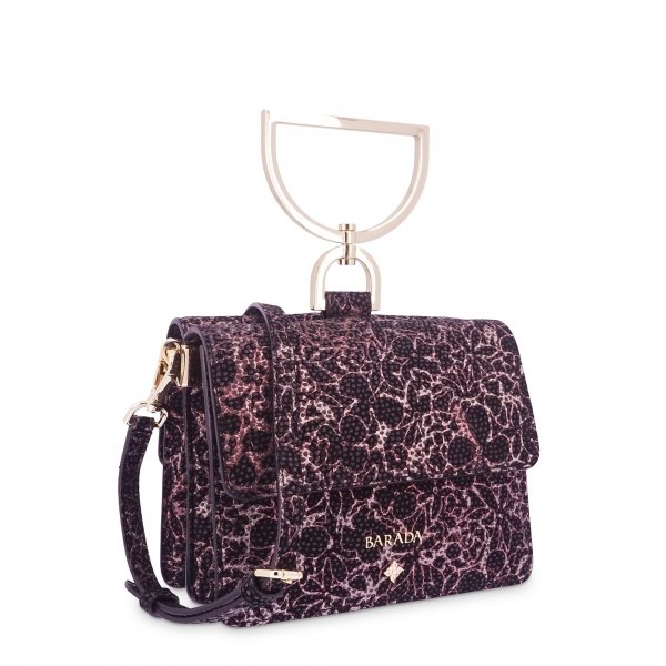 Shoulder Bag in Lamb Skin and Red colour