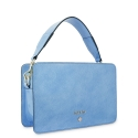 Handbag in Calf leather (Grainy patent) and Light Blue colour