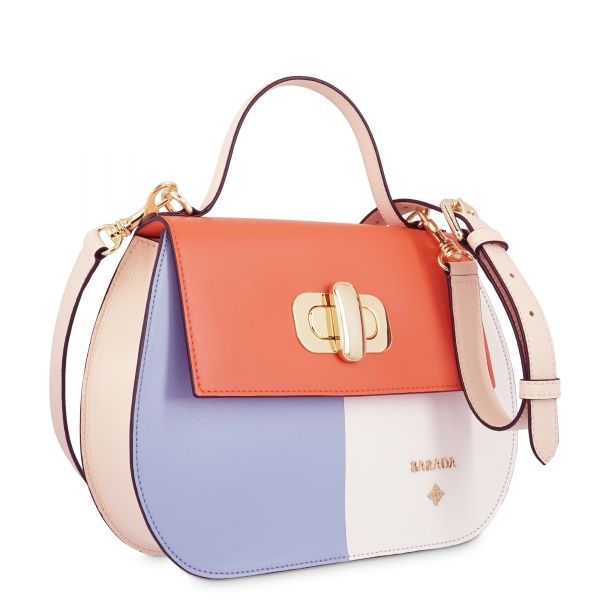 Handbag in Calf leather and Multicolour