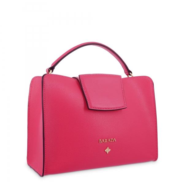 Handbag in Calf leather and Fuchsia Pink colour