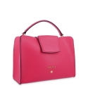 Handbag in Calf leather and Fuchsia Pink colour