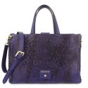 Medium Tote Handbag in Calf leather and Blue colour