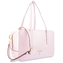 Shoulder Bag in Calf leather (Grainy Patent) and Pink colour