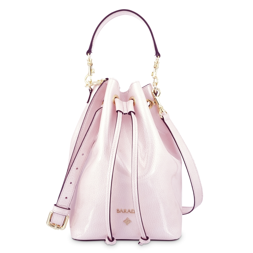 Wristlet Bag in Calf leather (Grainy Patent) and Pink colour