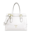 Handbag in Calf leather (Grainy Patent) and White colour