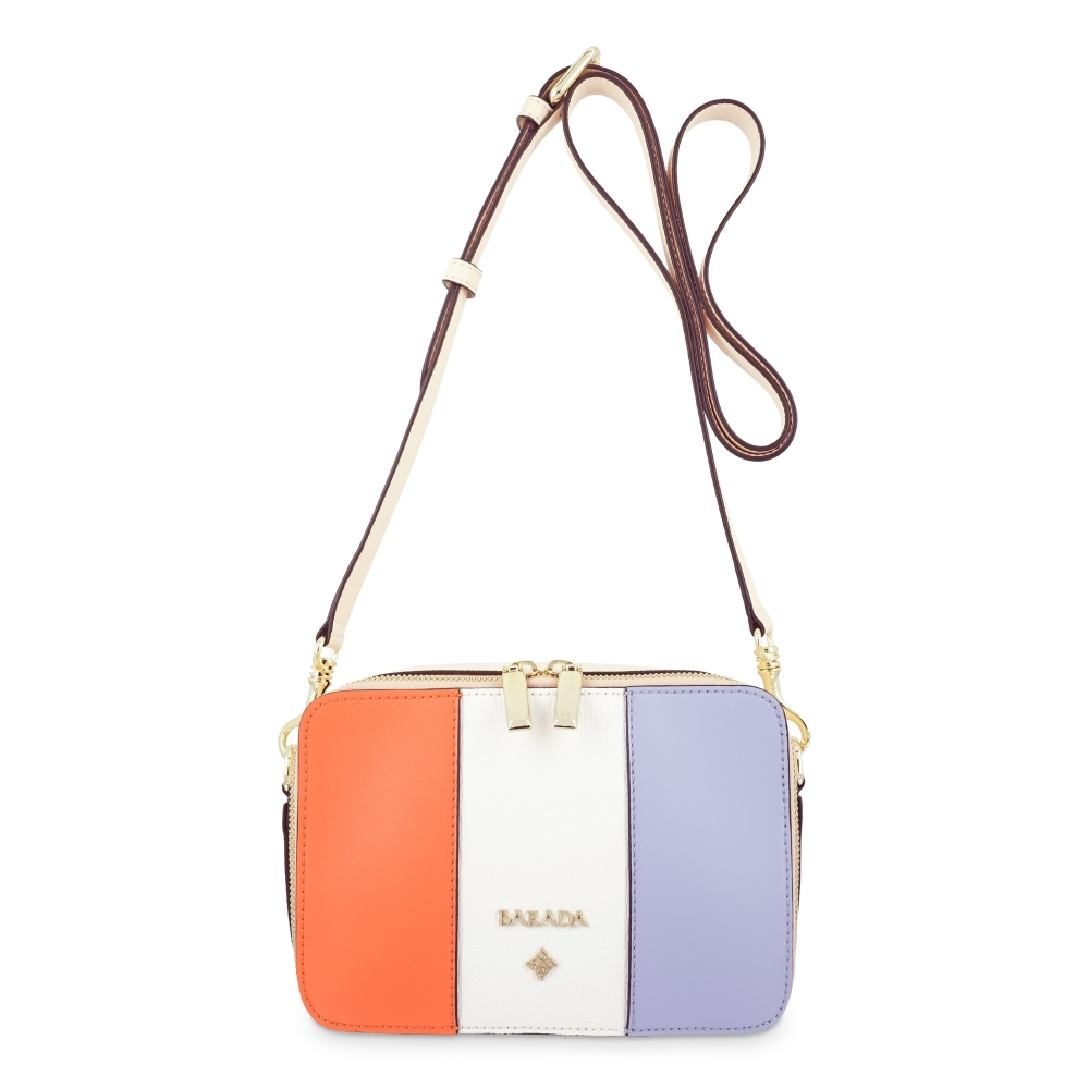 Crossbody Bag in Calf leather and Multicolour