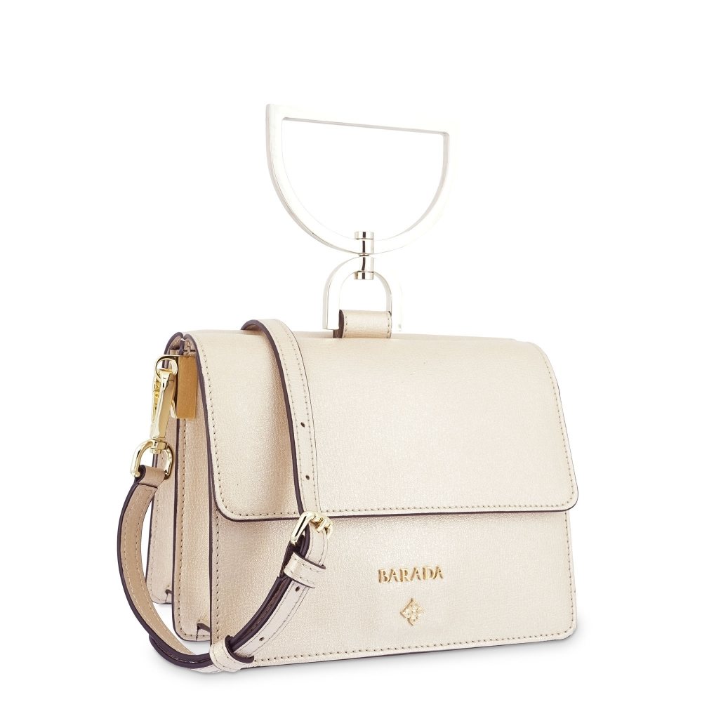 Handbag Bag in Calf leather and Golden colour