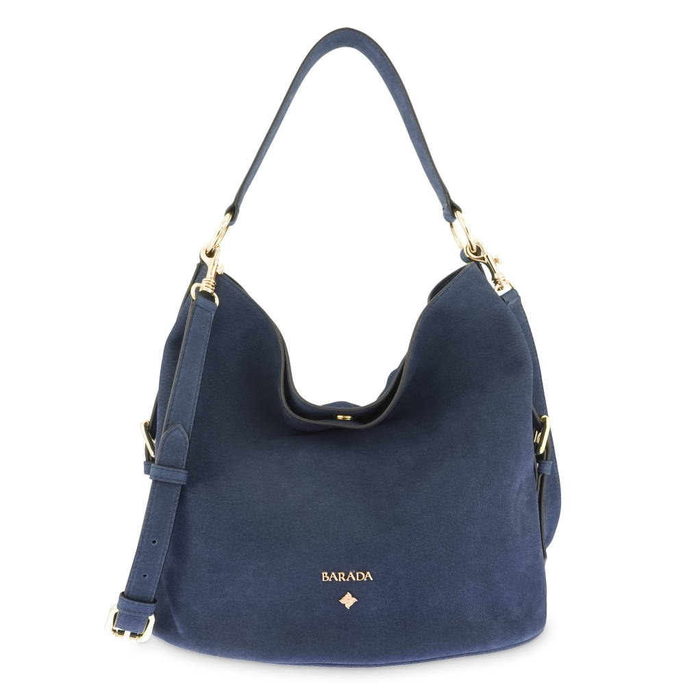 Bolsos Hobo in Buffalo Leather and Blue color