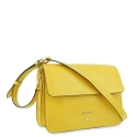 Cross Body Bag in Cow Leather and Yellow color