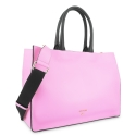 Top Handle Handbags in Cow Leather and Rosa/Black color
