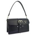 Shoulder Bag in Cow Leather and Black color