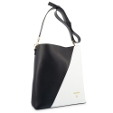 Shoulder Bag in Cow Leather and Black/White color
