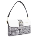 Shoulder Bag in Cow Leather and White color