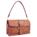 Shoulder Bag in Cow Leather and Tan Leather color