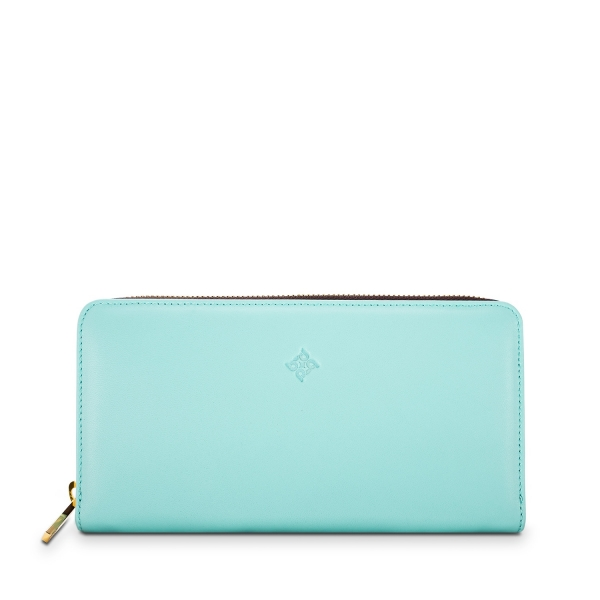 Zip Around Wallet in Nappa Leather