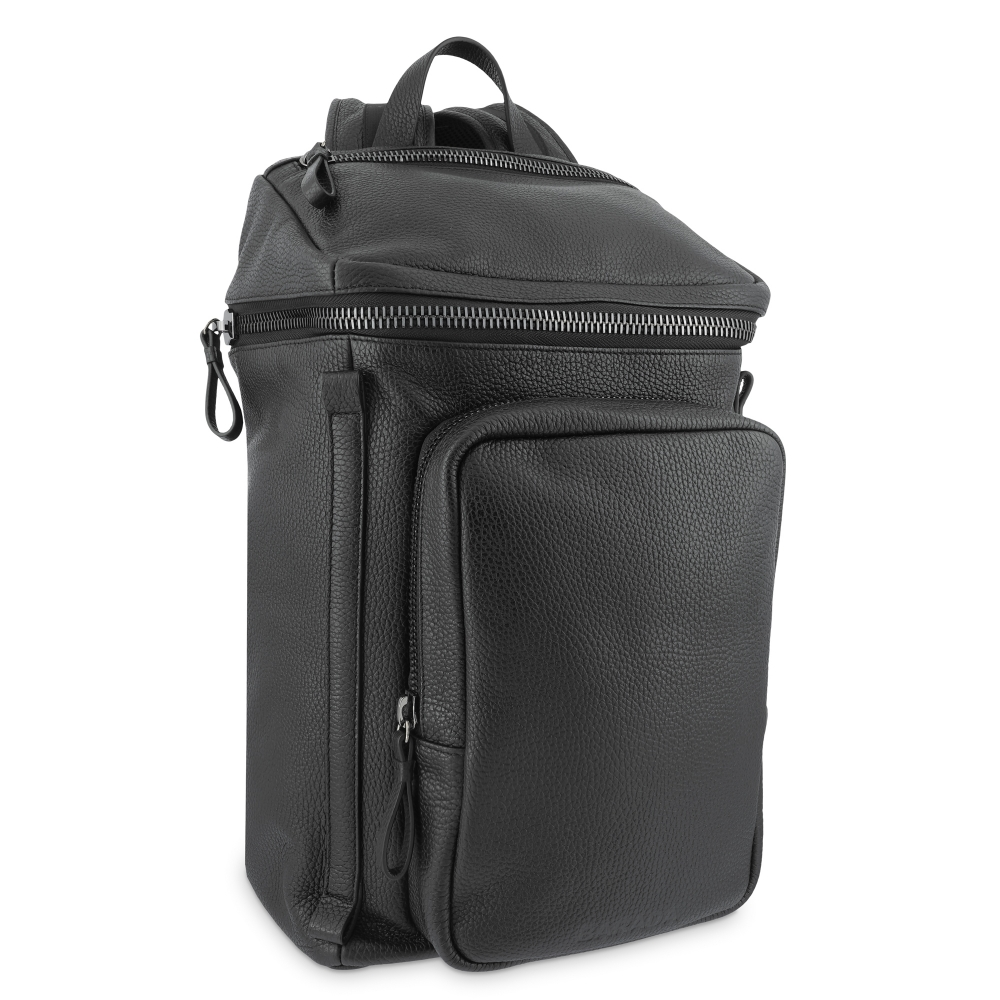 Backpack in Cow Leather and Black color