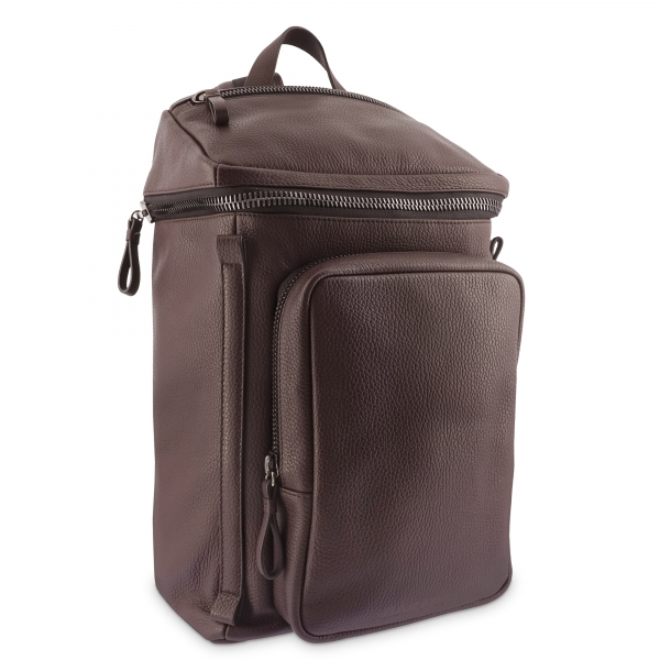 Backpack in Cow Leather and Brown color