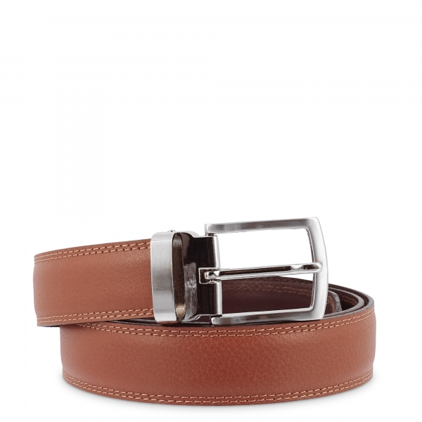 Leather Belt, Barada C1-AL02 in Tan Leather color