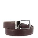 Leather Belt, Barada C1-AL02 in Leather brown color