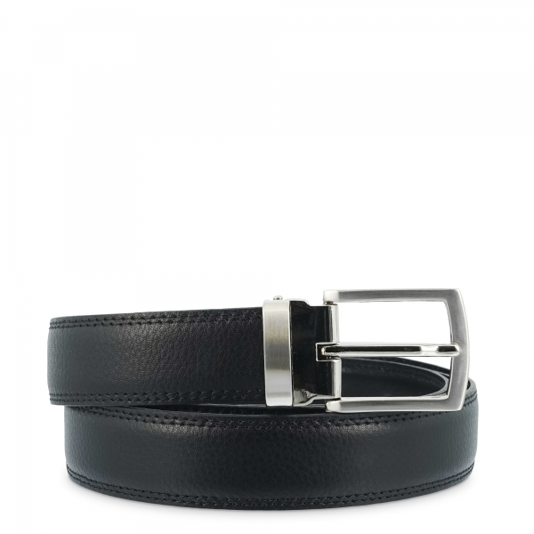 Cinturón en piel Vacuno, Barada C1-AL00 en color Negro