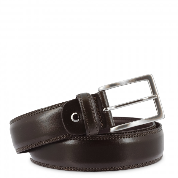 Leather Belt, Barada C2-TE05 in brown color