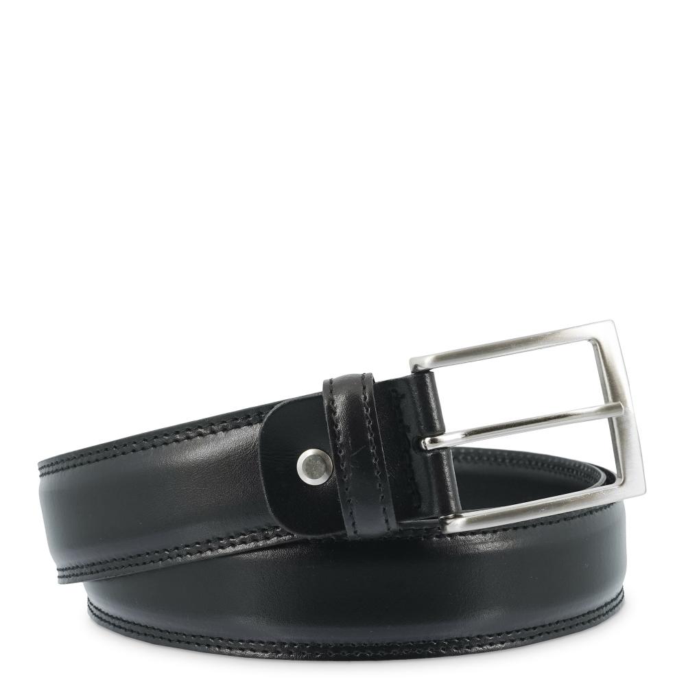 Leather Belt, Barada C2-TE00 in black color