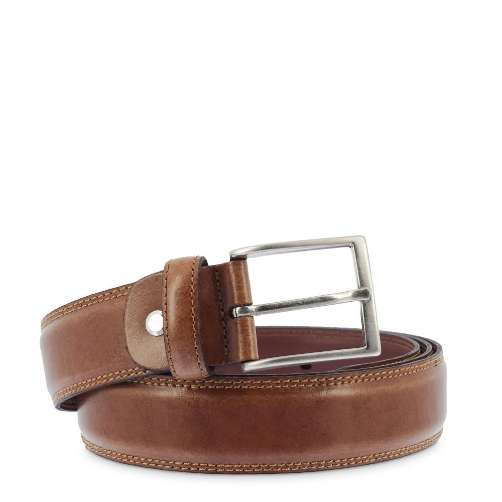 Cinturon en piel, Barada C2-TE02 en color Cuero