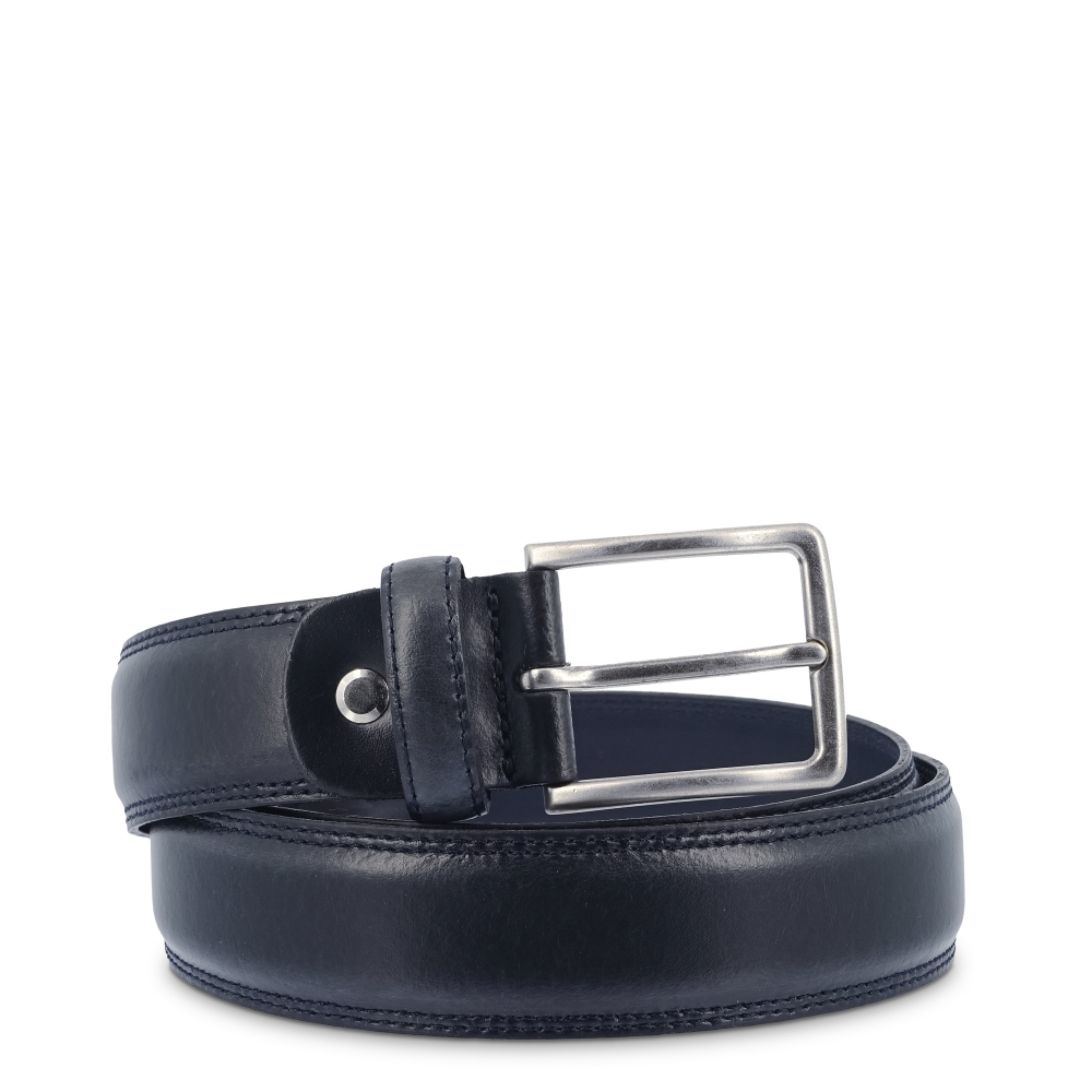 Leather Belt, Barada C2-TE04 in blue color