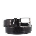 Leather Belt, Barada C3-CO00 in black color