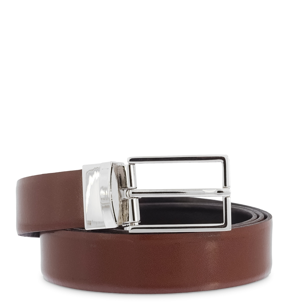Leather Belt, Barada C4-RE05-00 in brown color