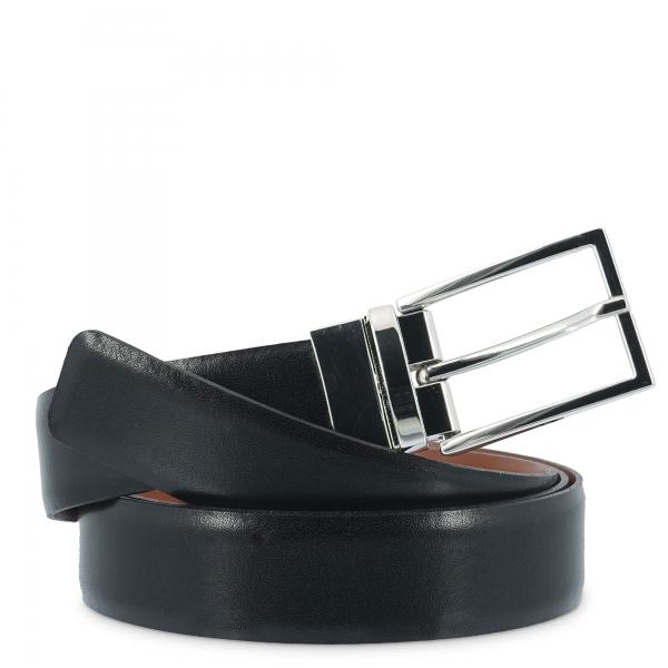 Cinturón en piel, Barada C4-RE00-02 en color Negro