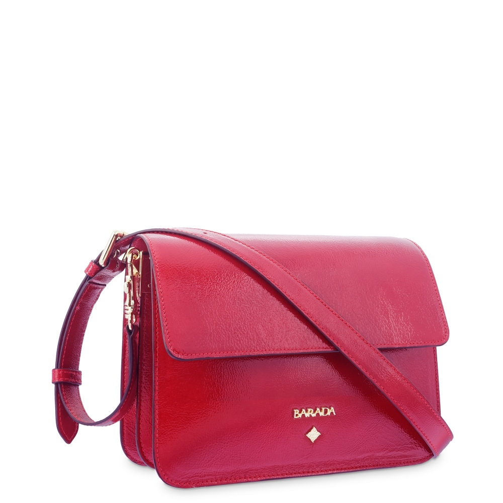 Shoulder Bag in Cow Leather and Red color