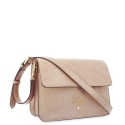 Shoulder Bag in Cow Leather and Nude color