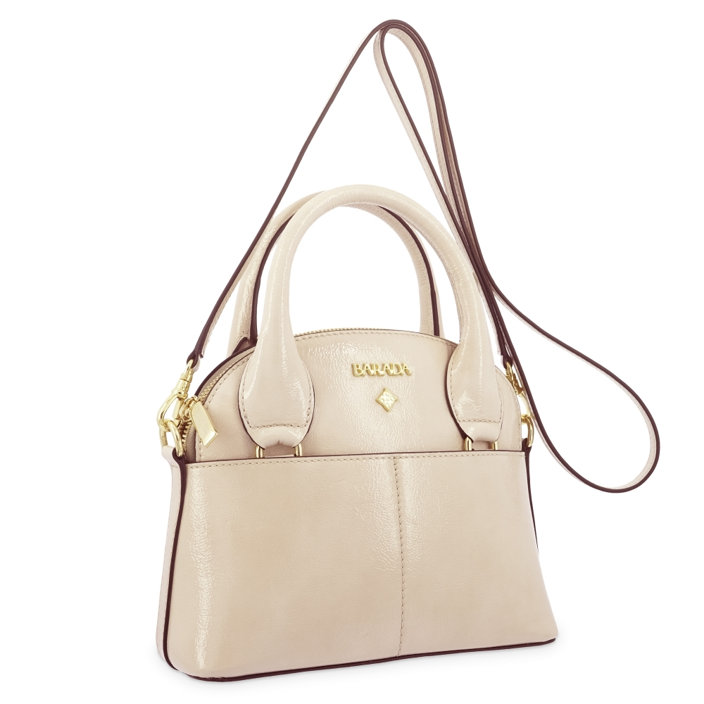 Mini Bags in Cow Leather and Beige color