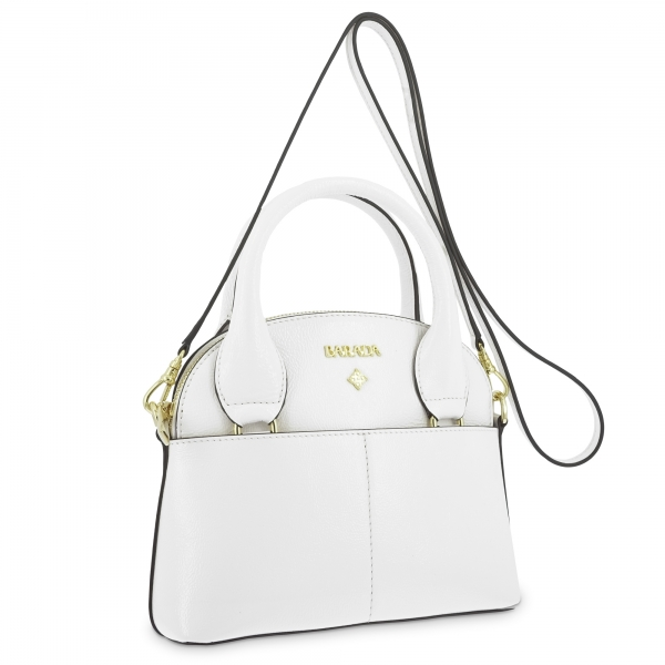 Mini Bags in Cow Leather and White color