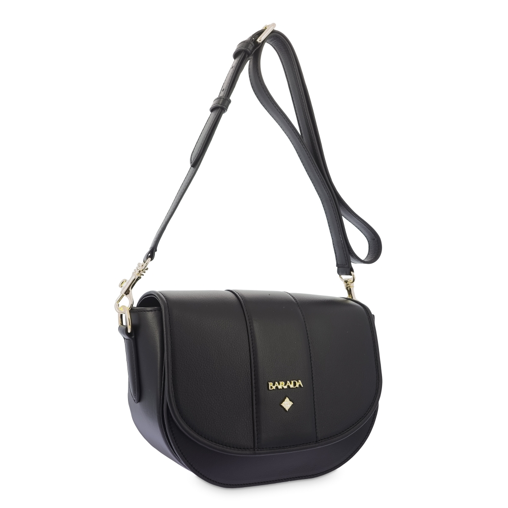 Shoulder Bag in Cow Leather and Black color
