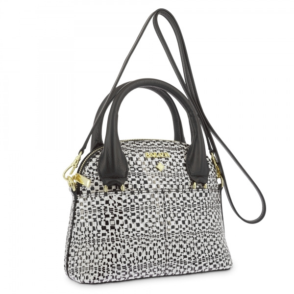 Mini Bags in Cow Leather and White/Black color