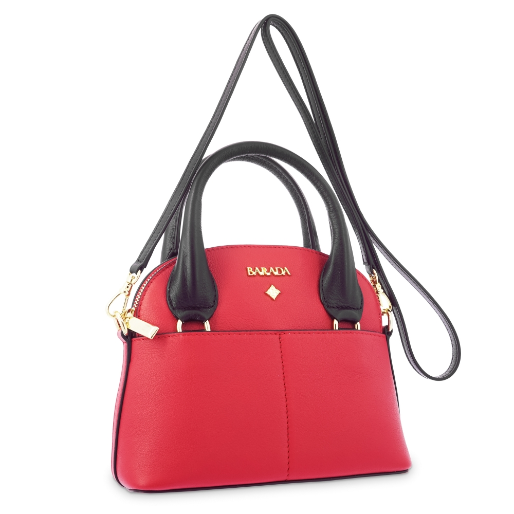 Mini Bags in Cow Leather and Red/Black color