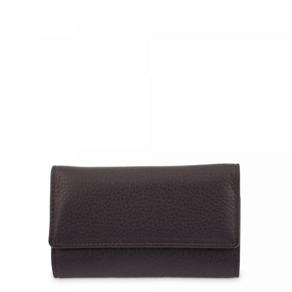 Leather Keyring Wallet for men in Brown color